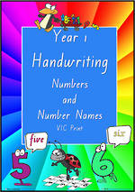Year 1 Handwriting | Practice | Number |  Number Names | VIC Print