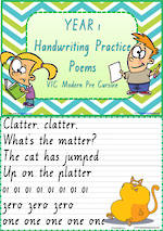 Year 1 Handwriting | Practice | Poems | VIC Modern PreCursive