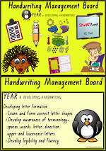 Year 1 Handwriting  |  Management | Cards | VIC Print