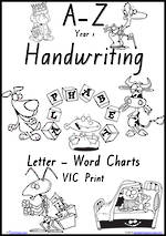 Year 1 Handwriting | Management | Letter – Word | Black and White | Charts | VIC Print
