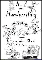 Year 1 Handwriting | Management | Letter – Word | Black and White | Charts | QLD Print