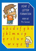 Year 2 Handwriting | Letter Formation | Uppercase | Lowercase | Colour Charts | NSW-NZ PreCursive