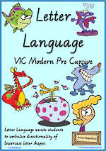 Year 2 Handwriting | Terminology | Lowercase Letter Language | Charts | VIC Modern PreCursive