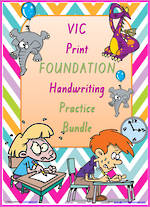 Foundation Handwriting | Practice | BUNDLE | VIC Print