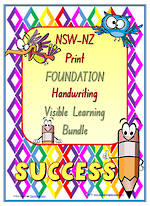 Foundation Handwriting | Visual Learning | BUNDLE | NSW-NZ Print