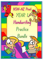 Year 1 | Handwriting | Practice | BUNDLE | NSW-NZ Print