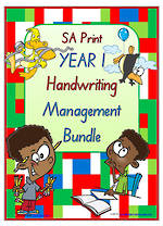 Year 1 | Handwriting | Management | BUNDLE | SA Print