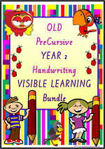 Year 2 | Handwriting | Visual Learning | BUNDLE | QLD PreCursive