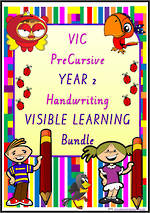 Year 2 | Handwriting | Visual Learning | BUNDLE | VIC PreCursive