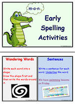 Early Spelling Activity Cards