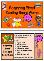 sc-sl-sm-sn-sp-st- Blend | Spelling | Board Game