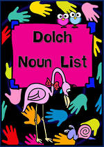 Dolch Noun List | Flashcards | VIC Print