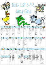 Alphabetical | Dolch Lists 3,4,5 | Grades 1,2,3 | Word Card