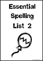 Essential Spelling | List 2 | Charts