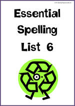 Essential Spelling | List 6 | Charts