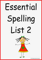 Essential Spelling | List 2 | Flashcards