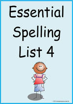 Essential Spelling | List 4 | Flashcards