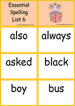 Essential Spelling | List 6 | Tiles