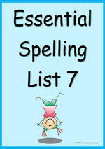 Essential Spelling | List 7 | Flashcards