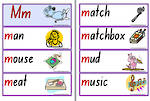 Letter  Mm | Words | Flashcards