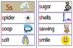 Letter Ss | Words | Flashcards