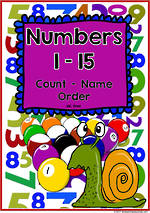 Numbers 1-15 | Learning Intention Chart and Flashcards | VIC Print