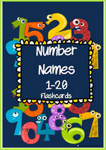 Number Words 1-20 Flashcards