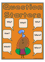 Past- Question Starters Chart and Flashcards
