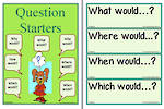 Probability-Question Starters Chart and Flashcards
