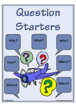 Imagination-Question Starters Chart and Cards