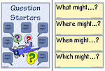 Imagination-Question Starters Chart and Flashcards
