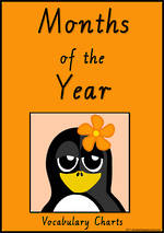 Months of the Year | Penguin Charts | VIC Modern PreCursive