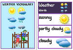 Weather Words | Flashcards | Poem