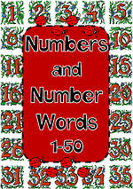 Number Words | 1-50 | Charts
