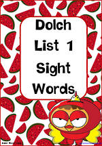Sight Words |  Dolch Pre-Primer | List 1 | Zaner – Bloser Style Flashcards