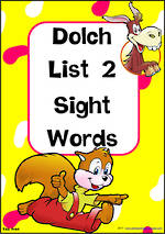 Sight Words |  Dolch Primer | List 2 | TAS Print Flashcards