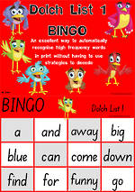 Sight Words |  Bingo Game |  Dolch Pre-Primer | List 1 | SA Print