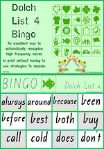 Sight Words | Bingo Game | Dolch Grade 2 | List 4 | VIC Print