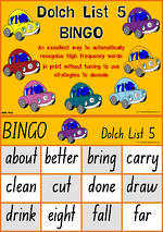 Sight Words | Bingo Game | Dolch Grade 3 | List 5  | NSW -NZ Print