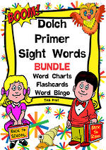 Sight Words |  Dolch Primer | List 2 | BUNDLE  | TAS Print