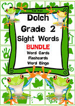 Sight Words | Dolch Grade 2 | List 4 | BUNDLE | TAS Print