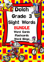 Sight Words | Dolch Grade 3 | List 5 | BUNDLE | VIC Print