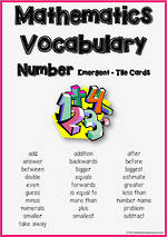 Mathematics Vocabulary | Number | Emergent| Tile Cards