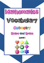 Mathematics Vocabulary | Geometry | Shape and Space| Level  1 | Tile Cards