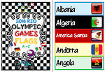 2016 Rio | Olympic  Games | Competing Countries | A-C | Colour Word Cards 1