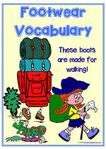 Footwear  | Vocabulary | Bingo