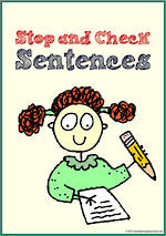 Sentence Check List | Chart and Cards