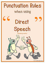 Punctuation Rules | Direct Speech Charts