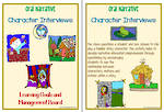 Oral Narrative - Character Interview Charts
