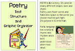 Poetry Text | Structure and Graphic Organiser | Charts